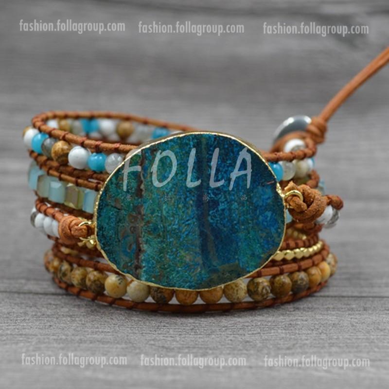 Ocean Jasper Stone Bracelet
