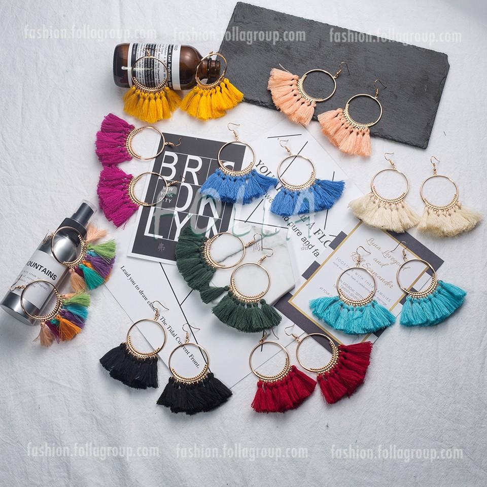 Bohemian Tassel Drop Earrings