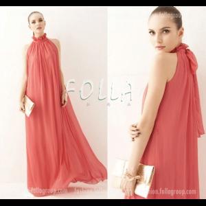 Chiffon Bohemian Long Dress - Red