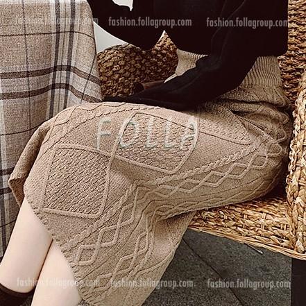 High Waist Knitted Dress