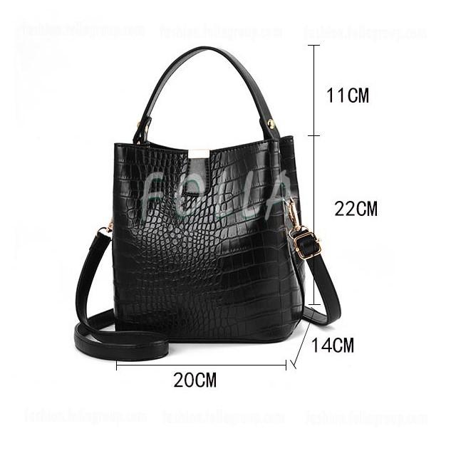 Korean Women's Crocodile Pattern Fashion Shoulder Bag
