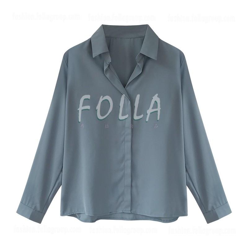 Women's Chiffon Buttonless Business Shirt